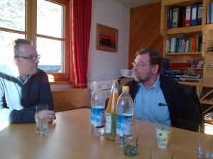 Martin mit Georg Hummel im Gespräch
